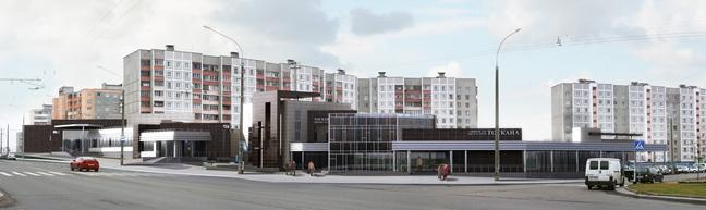 Весь реконструируемый комплекс обслуживания по ул. Гинтовта